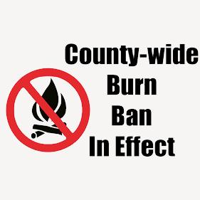 burn ban in effect effective immediately echpoa